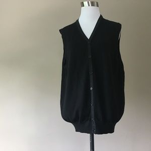 Manetti Wool Cardigan Sweater Vest, Medium